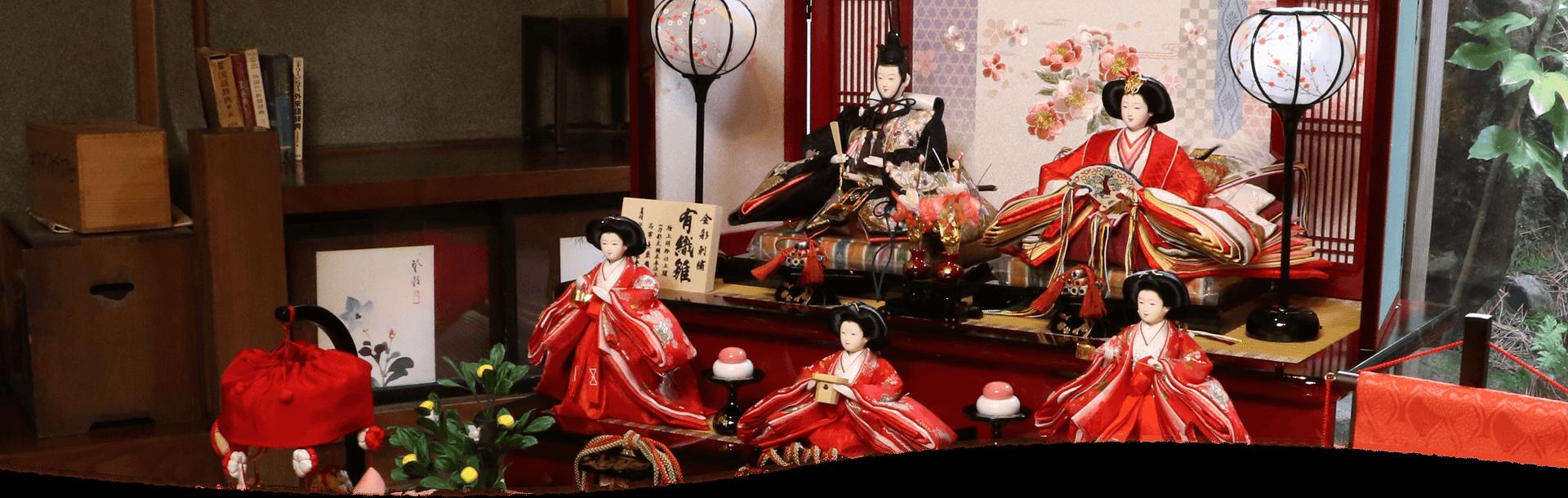 美麗な隆和堂の雛人形